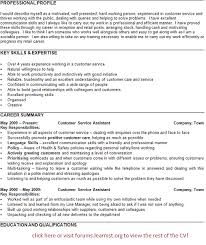 customer service profile resumes a good customer service resume