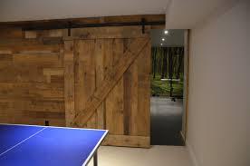 barn board walls and door