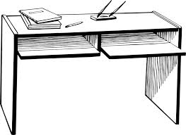 student desk clipart black and white. free stock photos | illustration of a desk # 7892 student clipart black and white