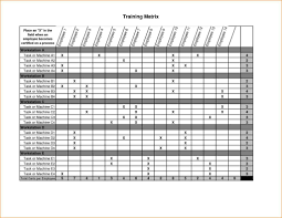 Training Tracking Template Employee Training Matrix Template Excel Task List Templates