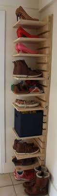 Adjustable wooden shoe rack Made to order 10 Shelf and 22 slat adjustable shoe  rack made