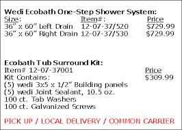 wedi fundo riolito shower base single slope drain assembly included size item 32 x 72 075100015 725 99