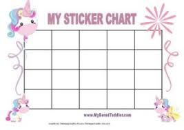 Unicorn Star Chart Unicorn Sticker Chart Printable Bedowntowndaytona Com