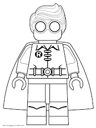 Small Picture Lego Robin coloring pages