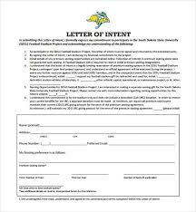 Loi Letter Sample Enchanting National Letter Of Intent Footballletter Of Intent Template India