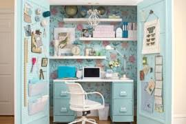 sweet decorating space saving office furniture. 15 Closets Turned Into Space-Saving Office Nooks Sweet Decorating Space Saving Furniture