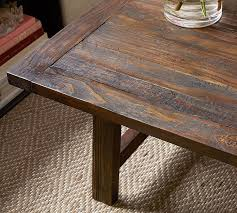 bartol reclaimed pine coffee table pottery barn