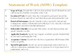It Statement Of Work General Scope Of Work Template