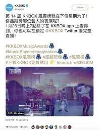 Kkbox Hong Kong Chart Kkbox Music Awards 2019 Gets Live Stream On Twitter For The