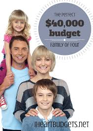 Budgeting For A Family Of 4 Your Ideal Budget Family Of 4 With 40 000 Income