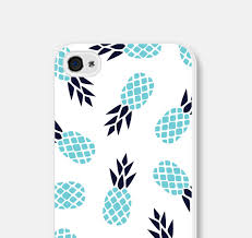Iphone 5s Case Blue : Iphone case pineapple c aqua