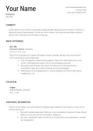 Free Resume Builder And Download Download Sample Resumes Free Acting