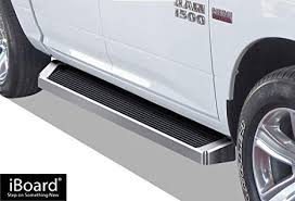 APS iBoard (Silver Running Board) Running Boards Nerf Bars Side Steps Rail Compatible with 2009-2018 Dodge Ram 1500 Crew Cab Pickup 4-Door & 2010-2019 ...