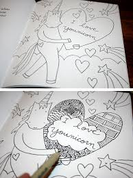 turn a coloring book into a zentangle