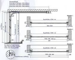 technical specification for gliderol sectional garage doors for garage door framing detail
