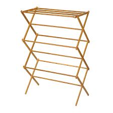 Household Essentials 7-Tier Wood Drying Rack