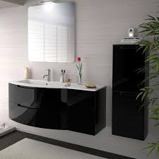 bathroom vanity black. 43 Inch Modern Floating Bathroom Vanity Black Glossy Finish