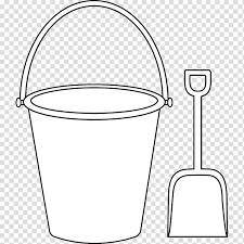 Template Of A Snowman Bucket And Shovel Drawing Illustration Bucket Beach Sand