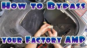 how to bypass your cars factory amplifier youtube Ford Ranger Wiring Harness Diagram at 07 Pathfinder Amp Harness Wiring Diagram
