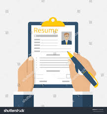 Resume Form Hands Clipboard Leaf Hand Stock Vector 417865288