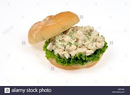 chicken salad sandwich on roll. Simple Roll Chicken Salad Sandwich With Lettuce In Bread Roll Open Top Off On  White Background To Salad Sandwich On Roll Y