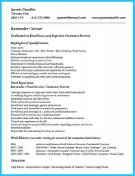 Sample Bartender Resume The Keys To Make Most Interesting Bartender Resumes Image Resume 28