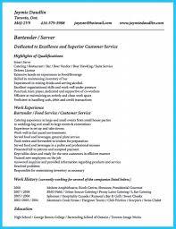 Bartending Resume Resume Template Templates Bartender Resumes