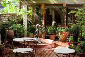 mediterranean outdoor furniture. Save Mediterranean Patio With Pots And Statue Fountaina Outdoor Furniture Picture
