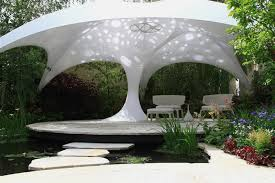 garden shade. Beautiful Textile Shade Structure That Beautify Your Garden D