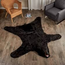 decorate with black bear rugs