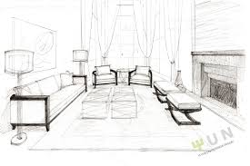 Delighful Interior Design Bedroom Sketches Sweet Water Project Living Room Sketch Throughout Impressive