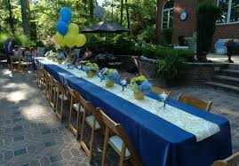 Blue And Gold Table Setting A Perfect Setting A Setting For Graduation