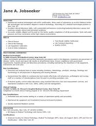 Gallery Of Medical Technologist Resume Example Med Tech Things