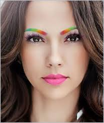 beautiful rainbow eyebrows pride makeup try this look on free app perfect365