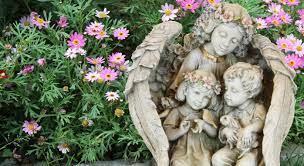 outdoor garden angel statues catholic