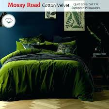 dark green bedding solid quilt small size of duvet cover queen sage