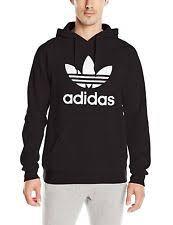 adidas hoodie mens. adidas trefoil hoodie hooded sweatshirt men black xs, small, medium, large mens