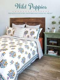 french country bedding wild poppies botanical dry linen black and white toile french country bedding