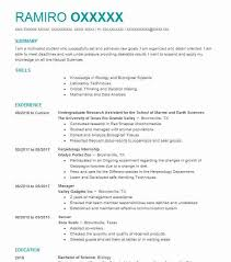 Resume Undergraduate Stunning 48 Biological Scientists Resume Examples Science Resumes