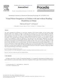 pdf convergent validity of two visual motor integration tests