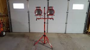 Commercial Electric Work Light Fascinating Twin Head Commercial Electric Heavy Duty Work Light Used BDA