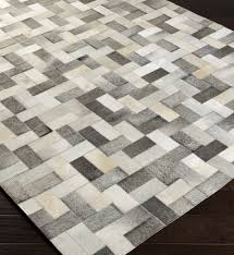 outback hides and leather hand woven rug by surya