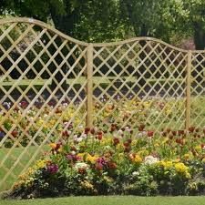 how to use garden trellis fencing