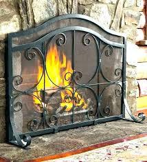 large fireplace screens s custom