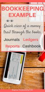 Bookeeping Ledger Bookkeeping Example Of Business Transaction Journal Ledger Report
