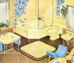 1940 Bathroom Design Impressive 48s Bathroom Yellow Standard Plumbing Catalog By Daily Bungalow