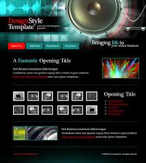 Music Website Templates Cool 28 Music Website Templates DreamTemplate