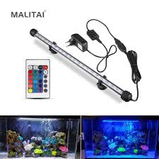 Dive Tank Light Us 7 98 30 Off Led Fish Tank Light Aquarium Decoration Lamp 19cm 29cm 39cm 49cm Bar Rgb Dive Underwater Light Ip68 Waterproof Submersible Lamp In