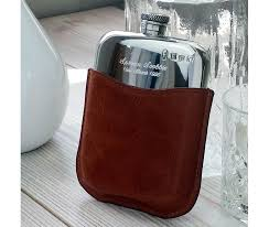 personalised leather hip flask with gift box free engraving and free hip flask funnel