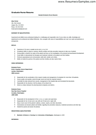 Nurses Resume Templates New Grad Resume Template Registered Nurse